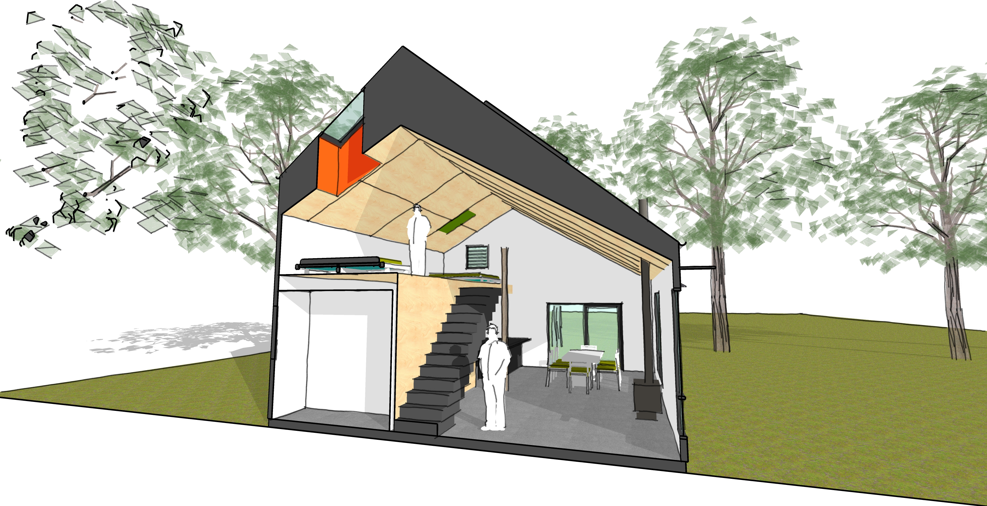 3D rendered architectural plan for a home — Enduring Domain Architecture