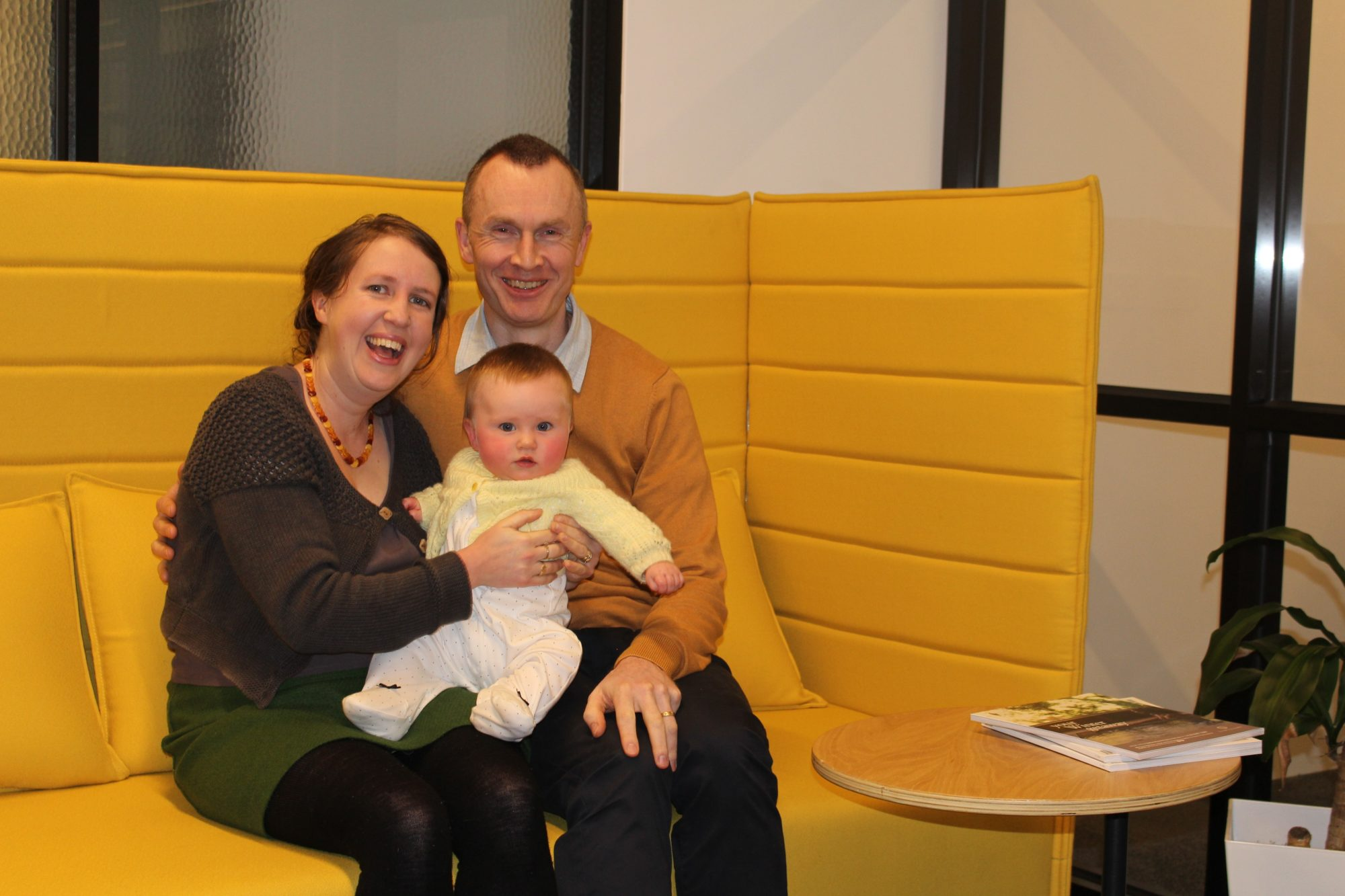 Architect Matthew Turner, wife Rachel and daughter Maeve